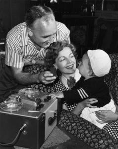 Tom Harmon, Elyse Knox and their son, Markcirca 1950sPhoto by Gabi Rona - Image 12980_0003
