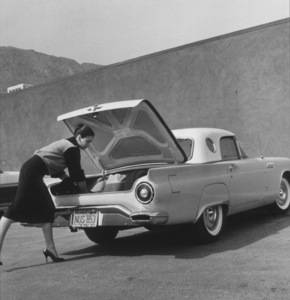 Kathryn Grant Crosby and her 1957 Ford Thunderbird 1958 © 1978 Sid Avery - Image 130_41