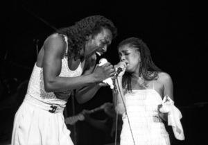 Ashford & Simpson (Nickolas Ashford and Valerie Simpson) performing live at the Santa Monica Civic Auditorium in Santa Monica, CA 1980© 1980 Michael Jones - Image 13047_0055