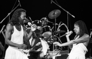 Ashford & Simpson (Nickolas Ashford and Valerie Simpson) performing live at the Santa Monica Civic Auditorium in Santa Monica, CA 1980© 1980 Michael Jones - Image 13047_0063