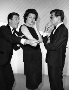 """Pantomime Quiz"" (aka ""Stump the Stars"") Mickey Manners, Pat Harrington, Jane Russellcirca 1956 Photo by Gabi Rona - Image 13106_0014"