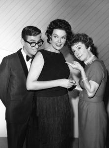 """Pantomime Quiz"" (aka ""Stump the Stars"") Pat Harrington, Jane Russellcirca 1956 Photo by Gabi Rona - Image 13106_0015"