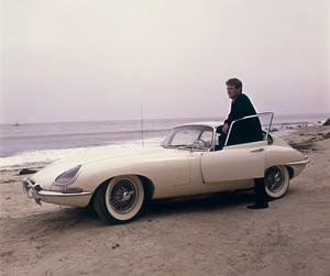 Duane Eddy and his 1963 XKE 3.8 Jaguar1963 © 1999 Ken Whitmore - Image 13169_0002