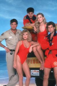 """Baywatch""David Hasselhoff,Erika Eleniak,Billy Warlock,Shawn Weatherly,Parker Stevenson1989 NBC © 1989 Mario Casilli - Image 1321_0114"