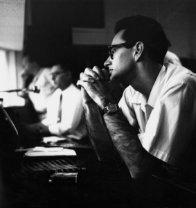 Paul Desmond at a recording session in Los Angeles, CA 1954 © 1978 Bob Willoughby - Image 13307_2