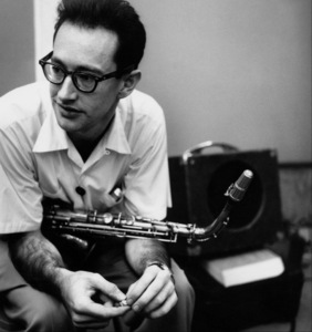 Paul Desmond at a recording session in Los Angeles, CA 1954 © 1978 Bob Willoughby - Image 13307_3