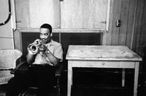 """Buck Clayton at """"The Benny Goodman Story"""" recording session, Universal 1955. © 1978 Bob Willoughby / MPTV - Image 13317_10"""