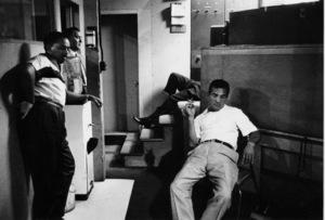 """The Benny Goodman Story"" Recording Session, Universal 1955.Benny Goodman and Gene Krupa. © 1978 Bob Willoughby / MPTV - Image 13318_15"
