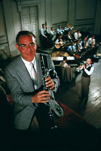 """The Benny Goodman Story,"" Universal 1955.Benny Goodman and Steve Allen (background). © 1978 Bob Willoughby / MPTV - Image 13326_35"