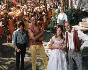 """""""Doctor Dolittle""""Anthony Newley, Geoffrey Holder, William Dix (background), Samantha Eggar, Rex Harrison1967 20th Century Fox © 1978 Ted Allan - Image 1336_0019"""