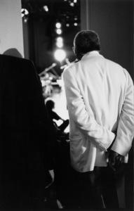 "Ellis Marsalis watching his son, Wynton Marsalis, at the ""Jazz Gipfel"" concert, Stuttgart, Germany, 1992. © 1978 Bob Willoughby / MPTV - Image 13364_16"