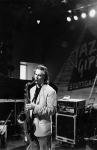 "Jan Garbarek at the ""Jazz Gipfel"" concert, Stuttgart, Germany, 1992. © 1978 Bob Willoughby / MPTV - Image 13368_26"