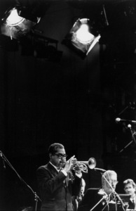 "N.Y. Jazz Giants: Art Farmer and Lee Konitz at the ""Jazz Gipfel"" concert, Stuttgart, Germany, 1992. © 1978 Bob Willoughby / MPTV - Image 13371_36"