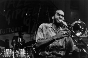 """Ronald Westray of Jazz Futures at the """"Jazz Gipfel"""" concert, Stuttgart, Germany, 1992. © 1978 Bob Willoughby / MPTV - Image 13379_25"""