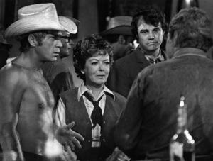 """""""Junior Bonner""""Steve McQueen, Ida Lupino, Joe Don Baker, Robert Preston (facing away from the camera)1972 Solar Productions** I.V. - Image 1340_0029"""