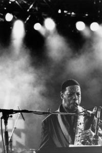 "Ornette Coleman at the ""Jazz Gipfel"" concert, Stuttgart, Germany, 1992. © 1978 Bob Willoughby / MPTV - Image 13402_1"