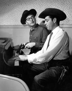 """Steve Allen Show, The""Steve Allen & Dale Robertsonc. 1958/NBCPhoto by Gerald Smith - Image 13414_0002"