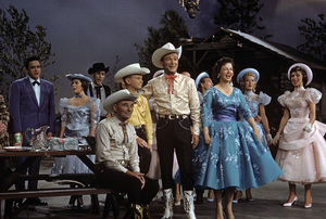 """The Dinah Shore Chevy Show""Johnny Cash, Roy Rogers, Dale Evans1959Photo by Gerald Smith - Image 13417_0002"