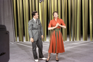 """""""All-Star Chevy Show""""Pat Boone, Shirley MacLaine1957Photo by Gerald Smith - Image 13417_0004"""