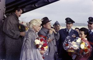 """U.S.O. Tour"" (Japan) Jerry Colonna, Jayne Mansfield, Bob Hope 1957 Photo By Gerald Smith - Image 13447_3"