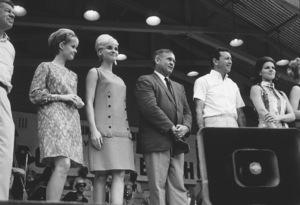 "Les Brown, Johnny Grant, Vic Damone, Anita Bryant""U.S.O. Tour"" (Southeast Asia) 1966Photo by Gerald Smith - Image 13450_0002"