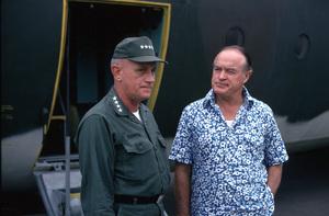 """U. S. O. Tour"" (Southeast Asia - Vietnam)Bob Hope and General Johnson, 1966.Photo by Gerald Smith - Image 13450_0013"
