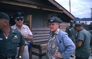 """U. S. O. Tour"" (Southeast Asia - Vietnam)Bob Hope and Colonel Gates, 1966.Photo by Gerald Smith - Image 13450_0014"