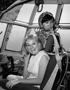 """""""U.S.O. Tour"""" (Southeast Asia)Phyllis Diller and a member of the Korean Kittens1966 © 1978 Gerald K. Smith - Image 13450_0037"""