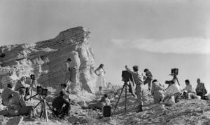 Art Center class on location for an assignment at Vasquez Rocks in Californiacirca 1940 © 1978 James Doolittle** K.K. - Image 13476_0001