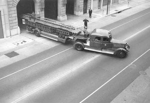 """Historical Category""""Hook and Ladder"""" Fire Headquarters between 2nd and 3rd Street on Hill Street, Los Angeles, CAcirca 1960Photo by Leo Caloia**K.B. - Image 13480_0008"""