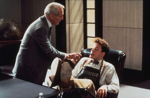 """The Hudsucker Proxy,""Paul Newman & Tim Robbins. © 1994 Warner Brothers - Image 1358_0004"