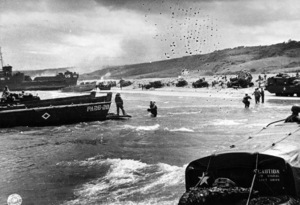 6 June 1944D-Day Invasion of Normandy, FranceOmaha Beach, Easy Red Sector1st Army, 1st Division© 1978 Herman V. Wall - Image 13651_0006