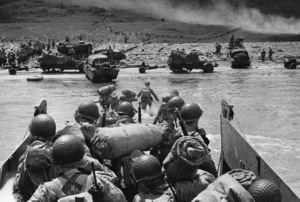 D-Day Invasion of Normandy, FranceOmaha Beach, Easy Red Sector1st Army, 1st DivisionJune 6, 1944© 1978 Herman V. Wall - Image 13651_0009