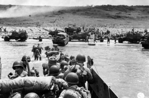 6 June 1944D-Day Invasion of Normandy, FranceOmaha Beach, Easy Red Sector1st Army, 1st Division© 1978 Herman V. Wall - Image 13651_0010