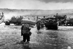 6 June 1944D-Day Invasion of Normandy, FranceOmaha Beach, Easy Red Sector1st Army, 1st Division© 1978 Herman V. Wall - Image 13651_0011