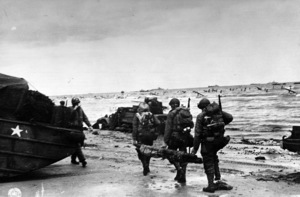 6 June 1944D-Day Invasion of Normandy, FranceOmaha Beach, Easy Red Sector1st Army, 1st Division© 1978 Herman V. Wall - Image 13651_0017