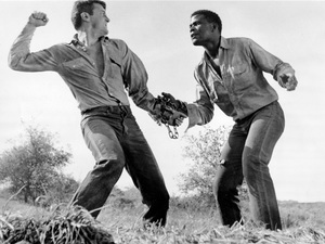 """""""The Defiant Ones""""Tony Curtis & Sidney Poitier1958 MGM**I.V. - Image 1369_0013"""