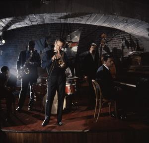 """Paris Blues"" Sidney Poitier, Paul Newman, Niels Henning Orsted Pedersen 1961 United Artists ** I.V. - Image 1372_0006"