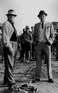 "Frank Sinatra on location for ""Von Ryan"
