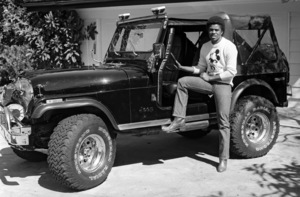 Jermaine Jackson at home with his Jeepcirca 1980 © 2009 Bobby Holland - Image 13830_0005