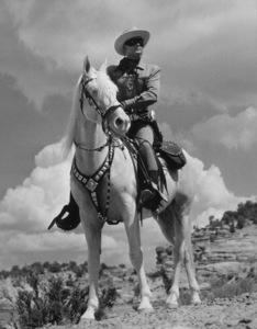 """""""Lone Ranger, The""""Clayton Moore1955 Warner Bros.Photo by Jack WoodsMPTV - Image 1384_0003"""