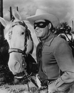 """""""Lone Ranger, The""""Clayton Moore1955 Warner Bros.Photo by Jack WoodsMPTV - Image 1384_0004"""