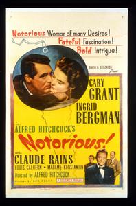"""Notorious""Poster1946 RKO**I.V. - Image 1398_0078"
