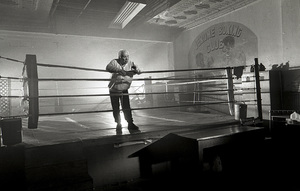Jake LaMotta at a boxing ring in the Bronx1997© 1997 James C. Zaccaro - Image 13986_0002
