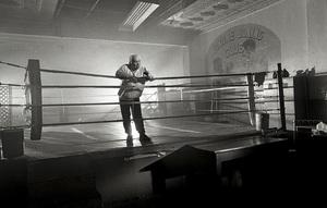 Jake LaMotta at a boxing ring in the Bronx1997© 1997 James C. Zaccaro - Image 13986_0002