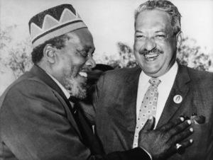 Thurgood Marshall in Kenya with its Premier Jomo Kenyatta1963 - Image 13991_0001
