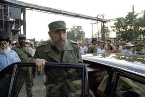 Fidel Castro visiting a sugar cane factory in Cuba1996© 1996 Patrick D. Pagnano - Image 14001_0026