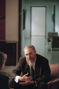 Fidel Castro during an interview at the Capitol Building in Havana, Cuba1996© 1996 Patrick D. Pagnano - Image 14001_0027