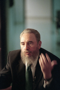 Fidel Castro during an interview at the Capitol Building in Havana, Cuba1996© 1996 Patrick D. Pagnano - Image 14001_0028