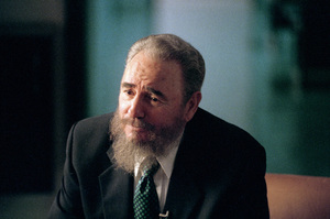 Fidel Castro during an interview at the Capitol Building in Havana, Cuba1996© 1996 Patrick D. Pagnano - Image 14001_0029